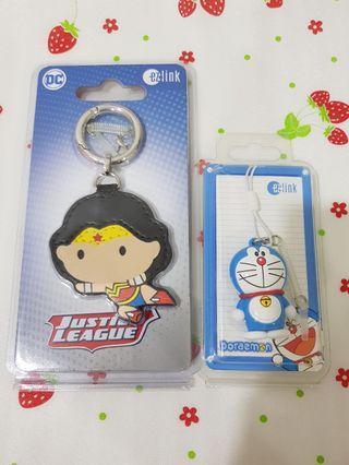 (2 Pcs) Wonder Woman + Doraemon Limited Edition Ezlink Charms