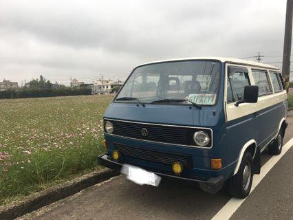 經典圓燈 VW T3 1986 1.9 後驅 露營 餐車 行動咖啡 拍片 車宿