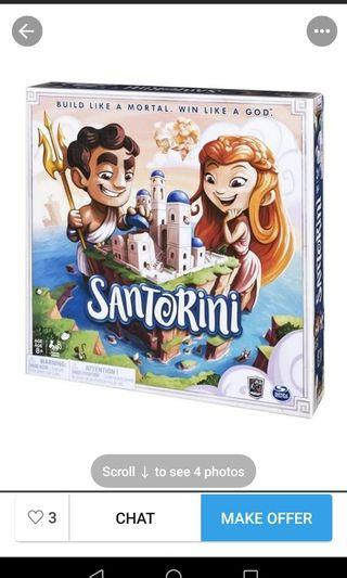 Santorini board game with option to buy expansion