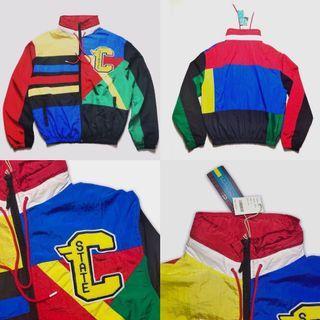 🇺🇸 美式復古衝鋒衣薄款外套 OG 撞色拼色 風衣外套 男款 歐美嘻哈流行 90年色塊