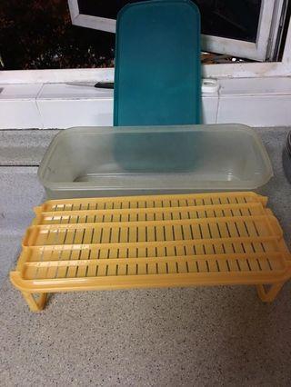 Vegetable 🍅 Vaccum container tray