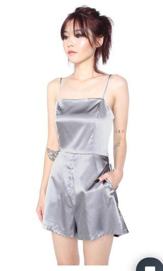 Young Hungry Free Rush Hour Romper In Grey