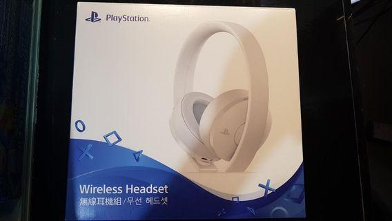 PS4 Gold headset White Edition