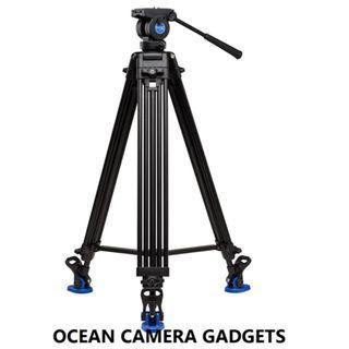 Benro KH26NL Studio Video Recording Tripod Professional wedding tripod Video Fluid Head Kit Tandem Legs