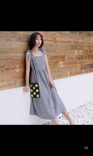 🚚 (原價$400 特價中🉐️格子吊帶連身裙