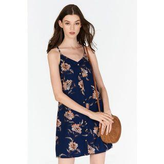 BNWT TCL Sanna Floral Printed Dress in Navy