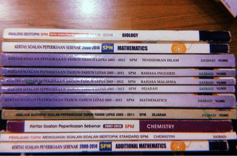 SPM Past Year Question Books