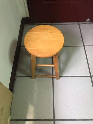 圓凳子-實木