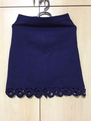 🚚 Navy Blue Casual/Office Skirt