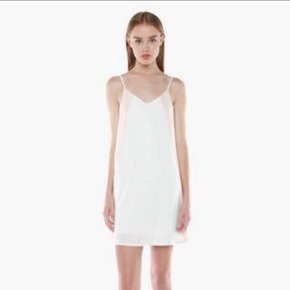 YHF White and Pink Slip Dress