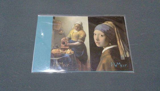 🚚 維梅爾 畫作 戴珍珠耳環的少女 卡貼