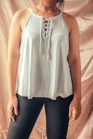Baby Blue Front lace Top