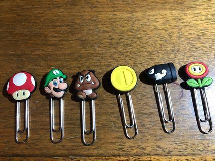 Mario Collection Paper Clips