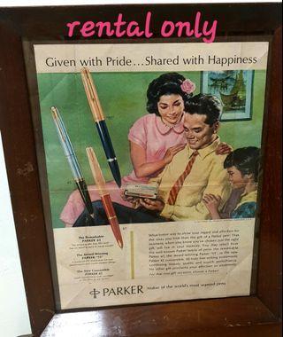 Vintage parker advertisements