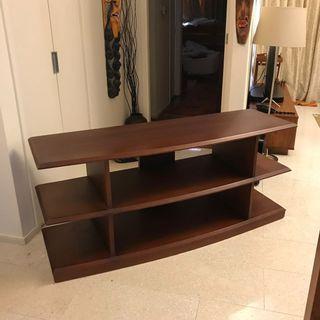 Simplistic Teak TV Cabinet with open shelves