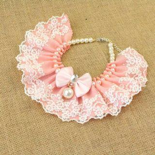 Sweet Pink Lace Necklace