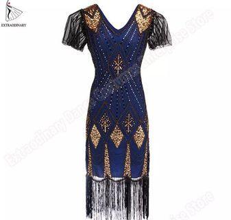 a94c1e1e5f17 (PO) S-XL Great Gatsby Dress Women 1920 s Vintage Sequin Art Deco