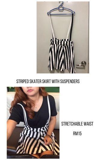 Skater Skirt with Suspenders