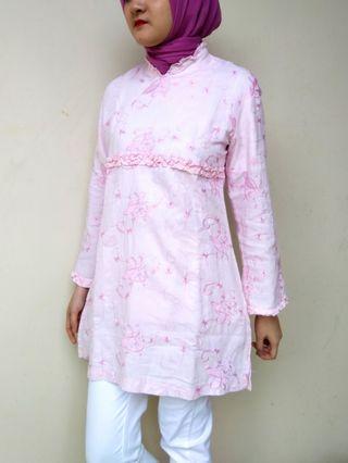 Baju muslim bordir pink
