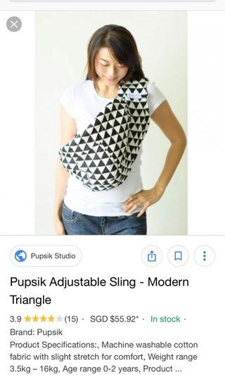 ab1ade84a02 Pupsik Adjustable Sling Baby Carrier