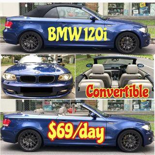 Car Rental BMW 120i Convertible ESTIMA MPV Merc E200 Lexus GS300 IS250 Honda Civic Stream Hybrid Vezel Accord Hyundia Avante Mercedes Benz Toyota Grab Private Hired Rent Leasing
