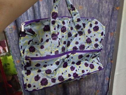 【全新】兩用摺疊旅行袋(可放在行李箱杆子上)