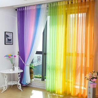 BN Home Floral Tulle Voile Door Window Curtain Drape Sheer