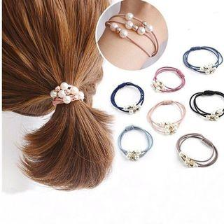 🚚 多層珍珠彈力髮圈 髮飾 3入10元(顏色隨機)平信出貨