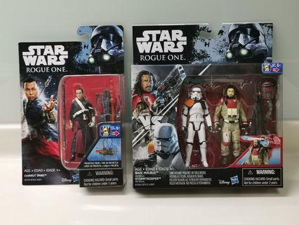 Star Wars rogue one stormtrooper & baze malbus + chirrut imwe