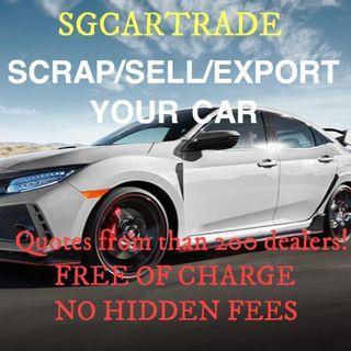 Sell car. Scrap car. Export car. Car consignment.