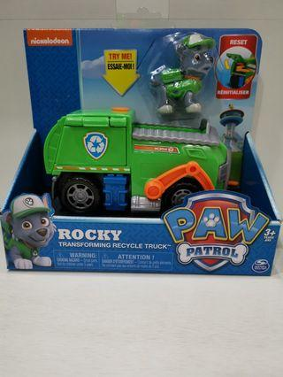 Brand new in box Nickelodeon Paw Patrol Rocky Transforming Recycle Truck