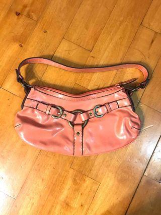 Nine West handbags red bean , pink colour 粉紅手袋,可上膊頭