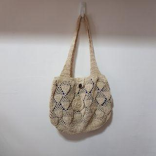Knitted Crochet Boho Tote Bag