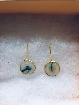 By Invite Only Gold Solar Quartz Earrings