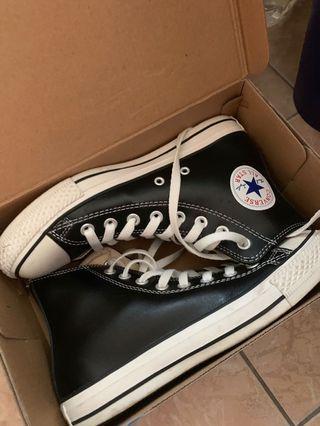 🚚 Converse 皮革高筒鞋