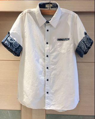 專櫃品牌 FIFTY PERCENT 純棉短袖襯衫上衣(男)