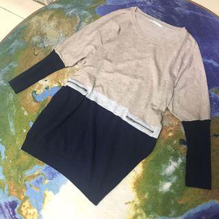 🚚 Epanouir 拼接混色長版上衣 洋裝