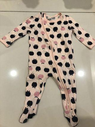 Preloved- Cotton On Baby Sleepsuit (3-6months)