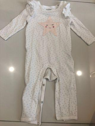 Preloved-Cotton On button up Sleepsuits. (3-6months)