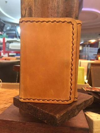 Men's Trifold Full Leather Small Wallet