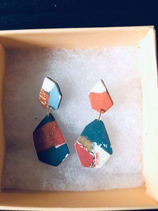 Wherebilly OOAK Terrain Earrings