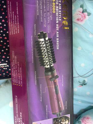 Kemei hair straightener/curler - auto rotation and blow dey