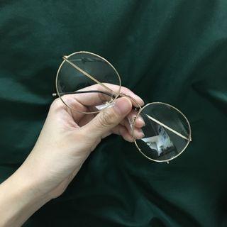 🚚 復古金框眼鏡