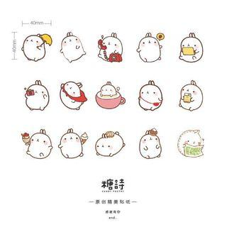 Molang Stickers (45pcs in a box)