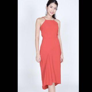 BN MDS Red Midi Dress