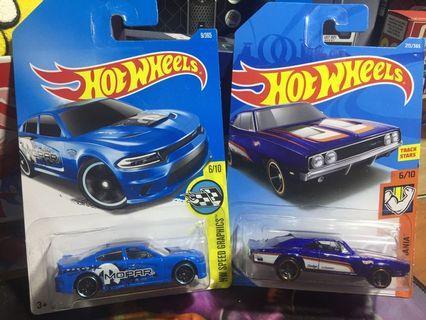 Lot hotwheels dodge charger