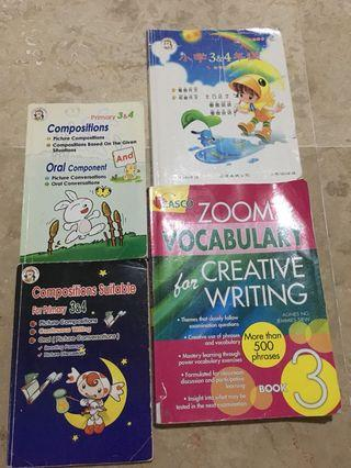🚚 P3 & P 4 eng n chinese compo book ($3 for eng n $4 for chinese )