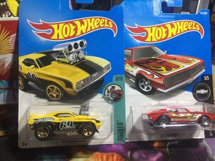 Hotwheels camaro 67 and camaro z28(treasure hunt)