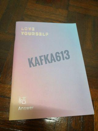 BTS ANSWER NOTEBOOK