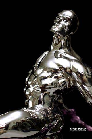 Sideshow Collectibles Silver Surfer Comiquette Exclusive (Custom Chromed)